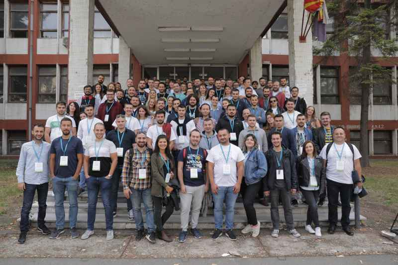 WordCamp Skopje 2019 - Обща снимка на участниците
