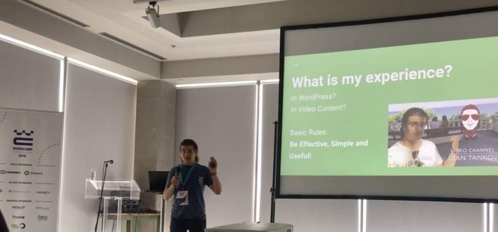 WordCamp Thessaloniki 2019 - Dian Tankov Talk