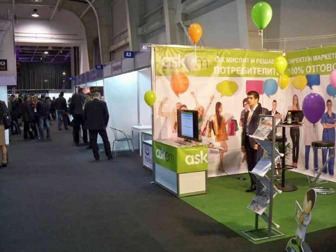Dian Tankov - Askem booth at Webit 2011