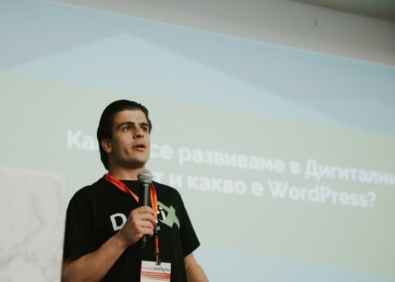 Speaker at Kod Motion 2019 - Front