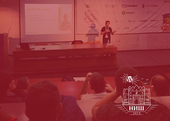Speaker at WordCamp Nis 2019 - Back