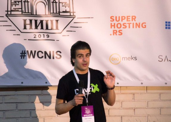 Speaker at WordCamp Nis 2019 - Front